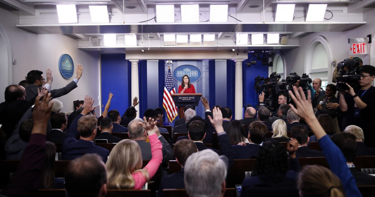 """New White House policy states reporters must spend 50% of their time at the White House, which few currently do, to qualify for a """"hard"""" press pass"""