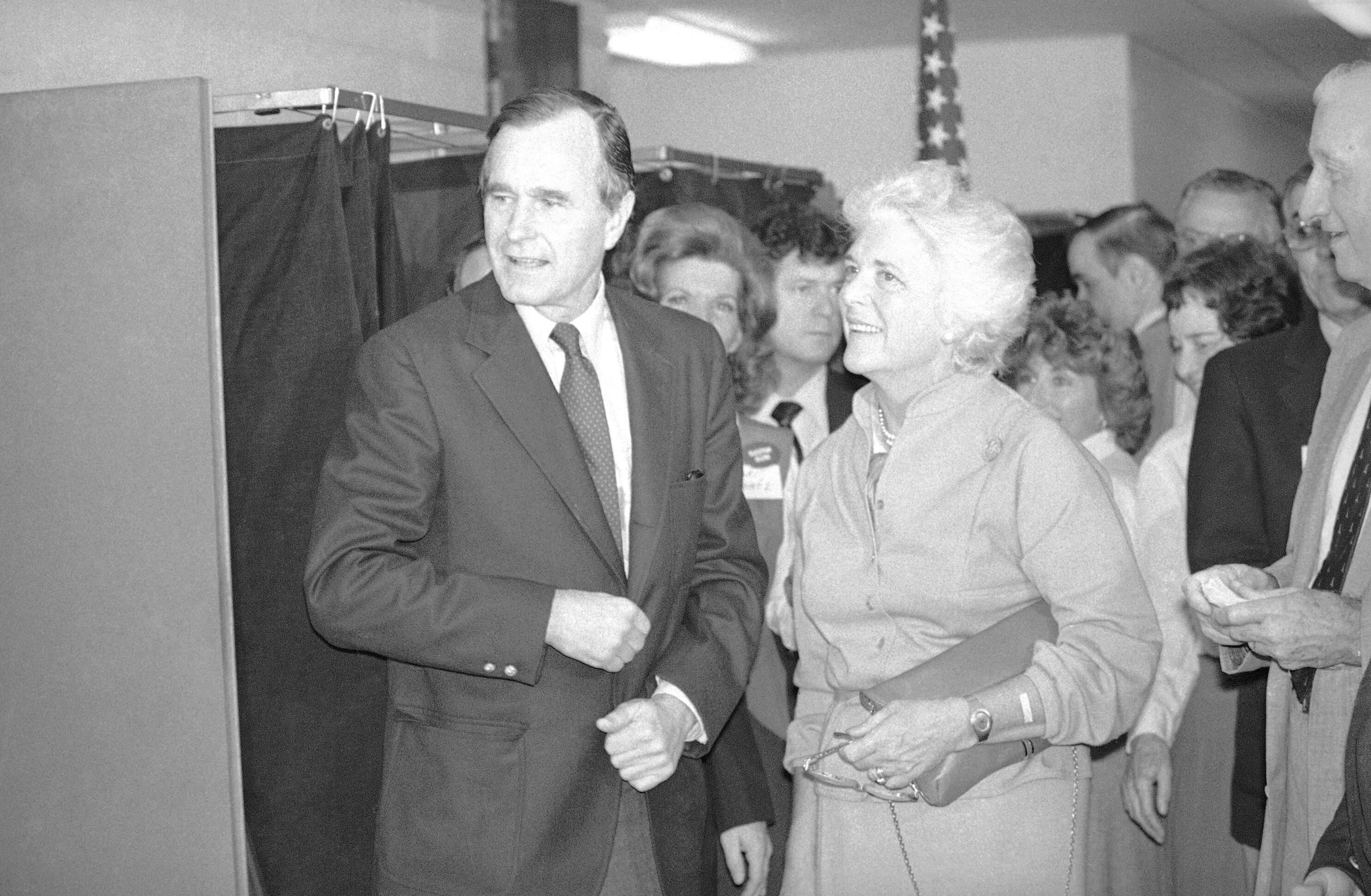 乔治布什和芭芭拉布什