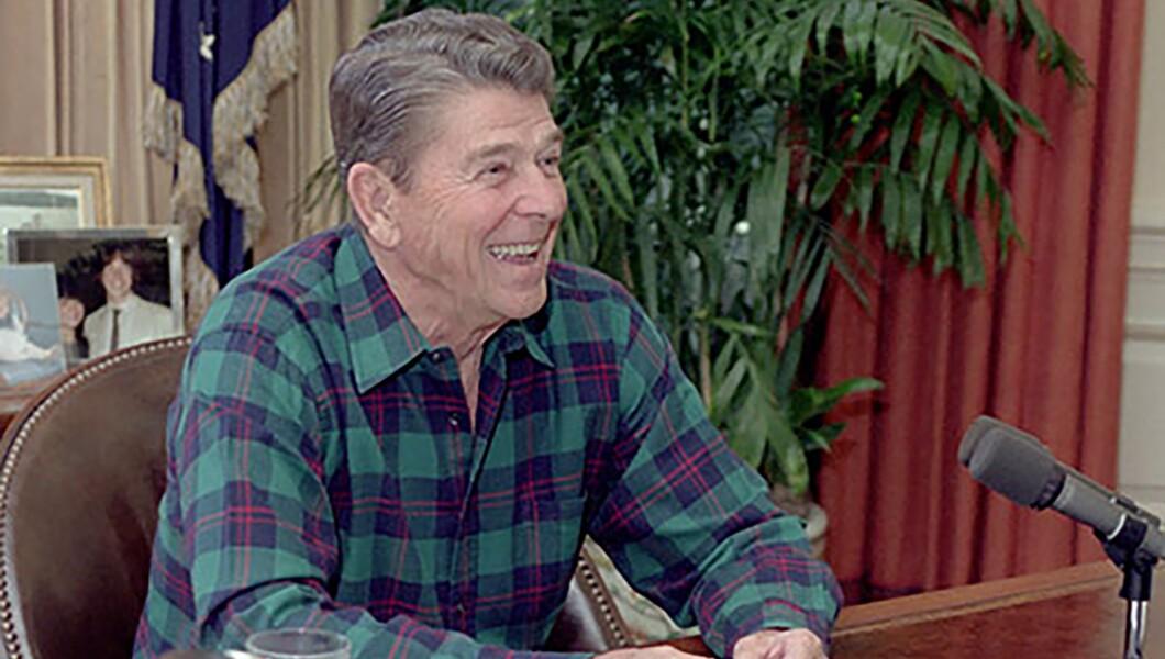 """""""罗纳德里根八年来从未在椭圆形办公室脱掉外套。"""""""