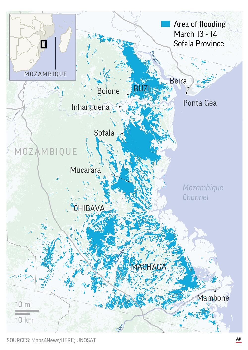 莫桑比克旋风洪水