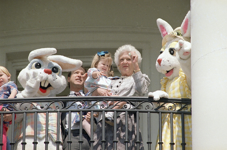 布什家庭复活节1989年3月