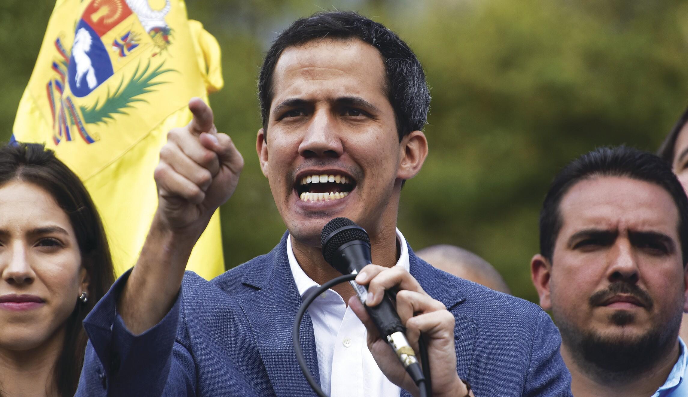 国民议会议长胡安瓜伊多举行集会,联合国会见委内瑞拉局势