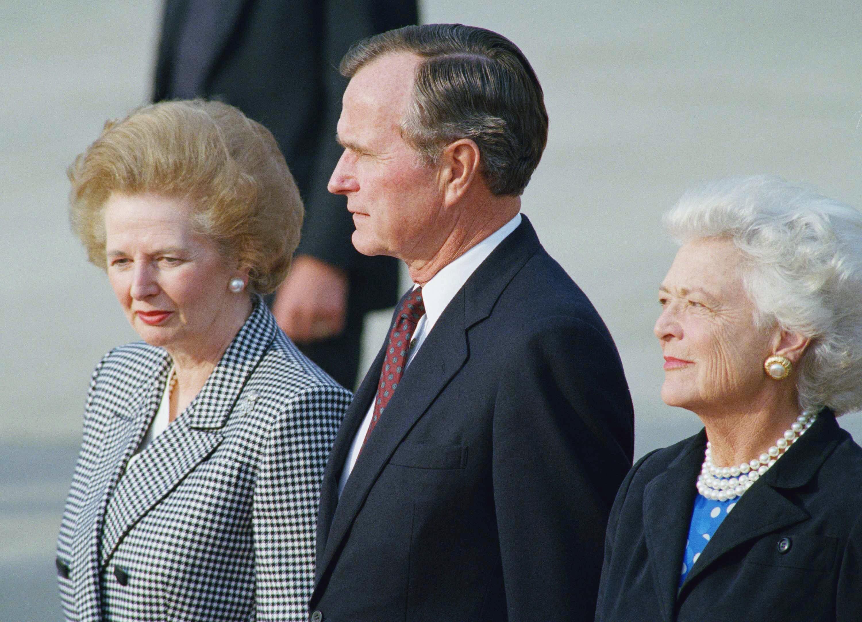 乔治布什和玛格丽特撒切尔
