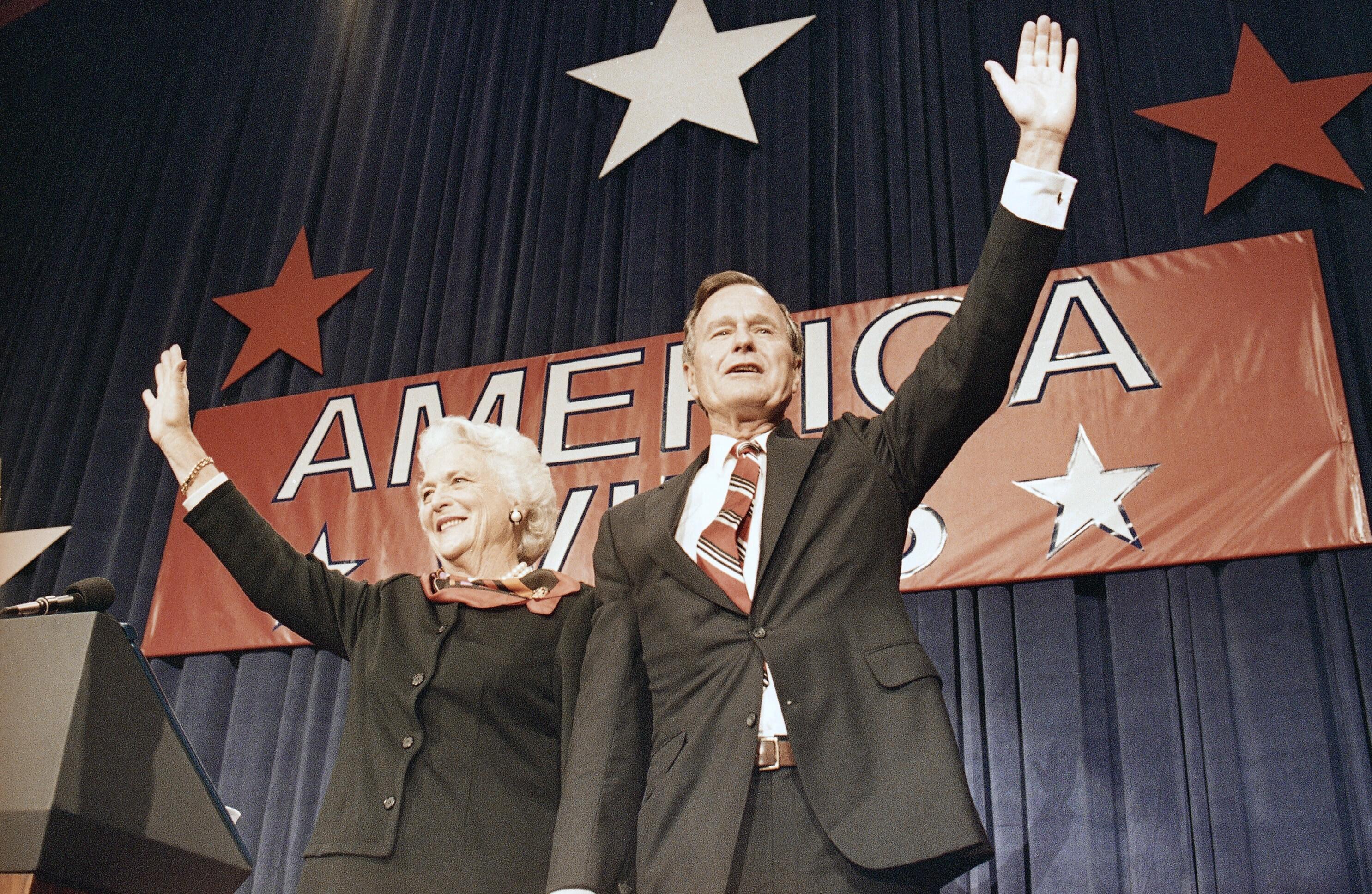 布什胜利集会