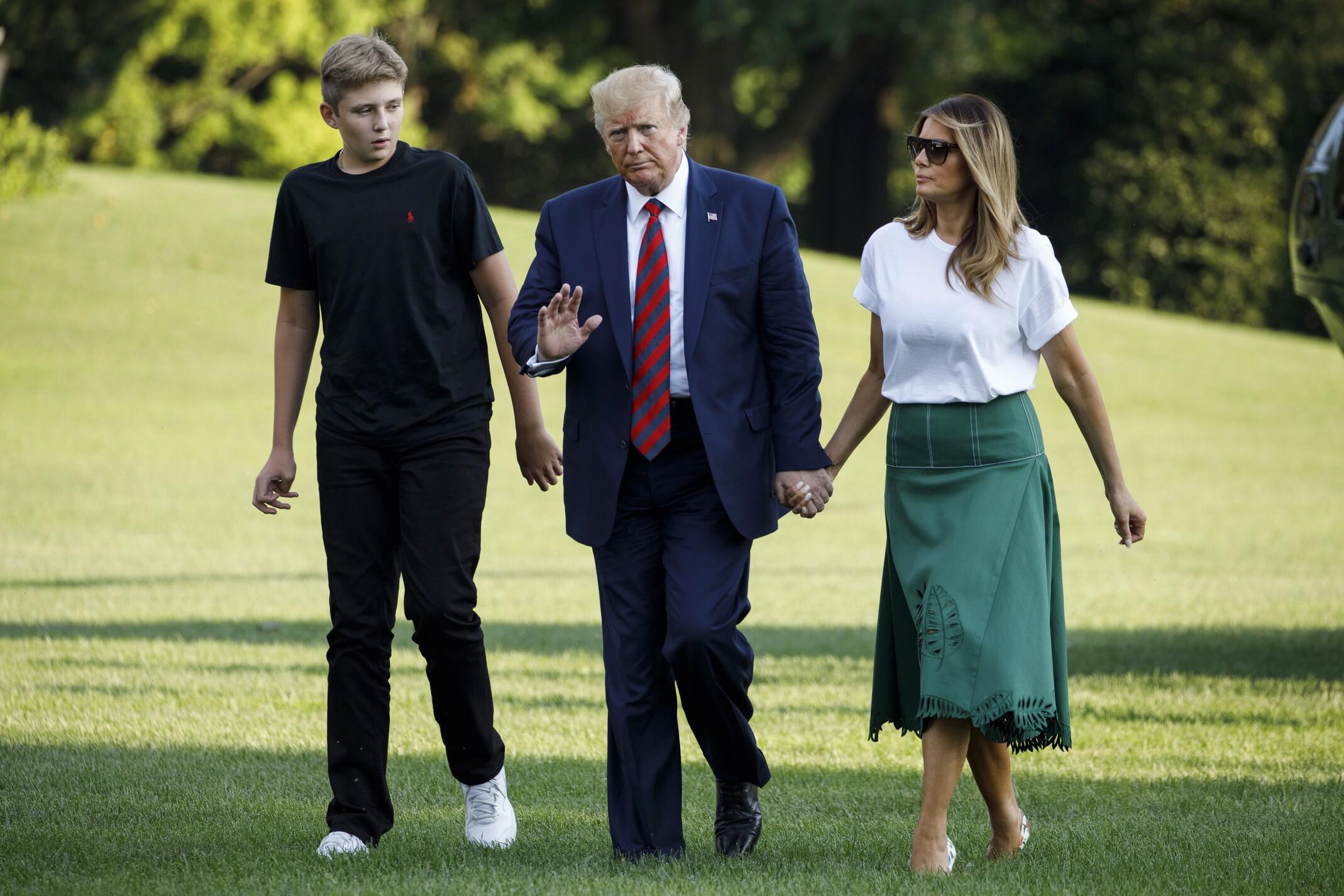 Donald Trump, Barron Trump, Melania Trump
