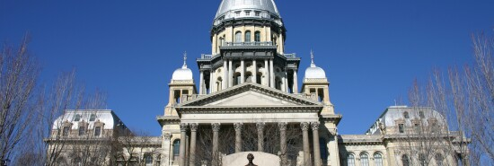 Outside view of the Illinois State Capitol Building