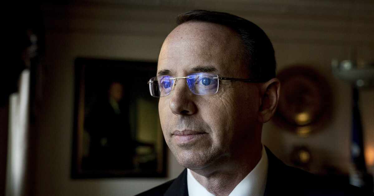 Rod Rosenstein takes 'wait and see' approach on whether Crossfire Hurricane was justified