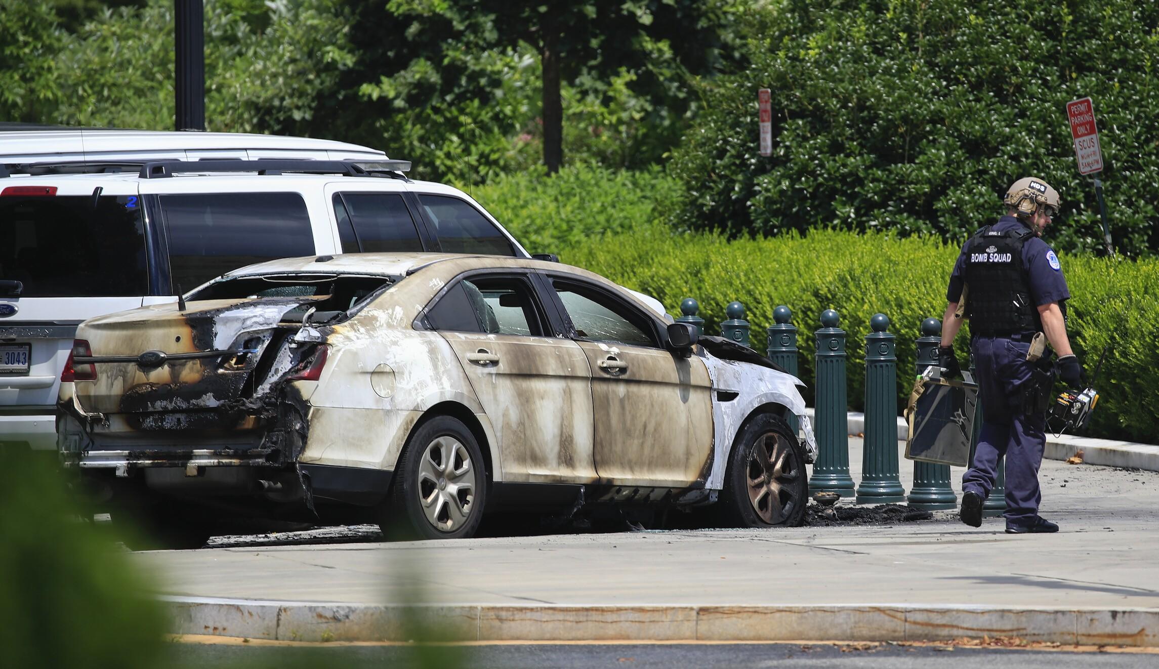 Supreme Court Vehicle Fire