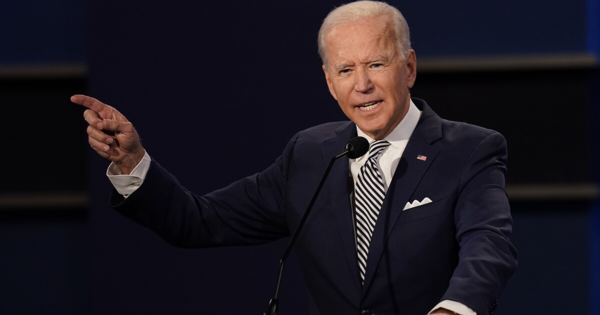 Biden speechless as Trump challenges him to name one police group that supports him