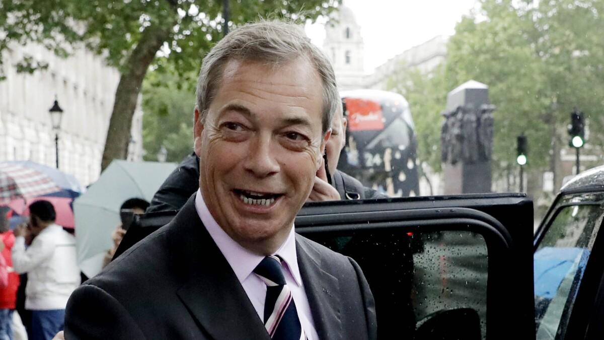 Nigel Farage urges Boris Johnson to make 'self-made entrepreneur' British ambassador after 'absolute disaster' Kim Darroch