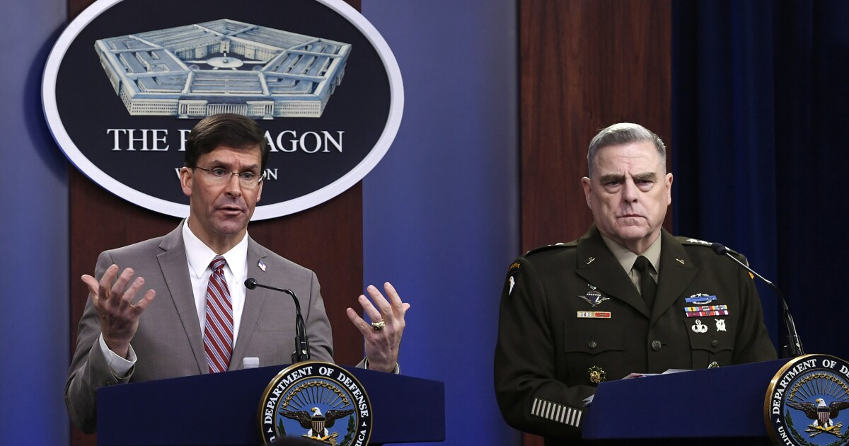 Pentagon considers lowering virus quarantine to 10 days...