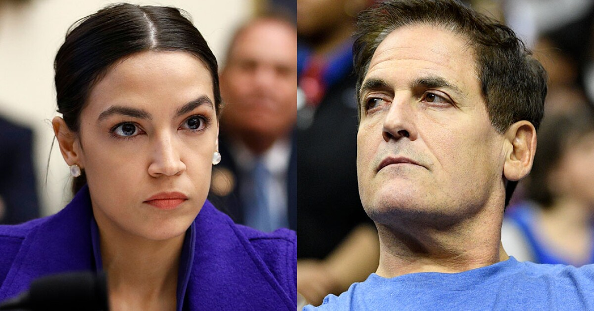 Mark Cuban goes after AOC: Her 'trickle down taxation' policies are 'headline porn'