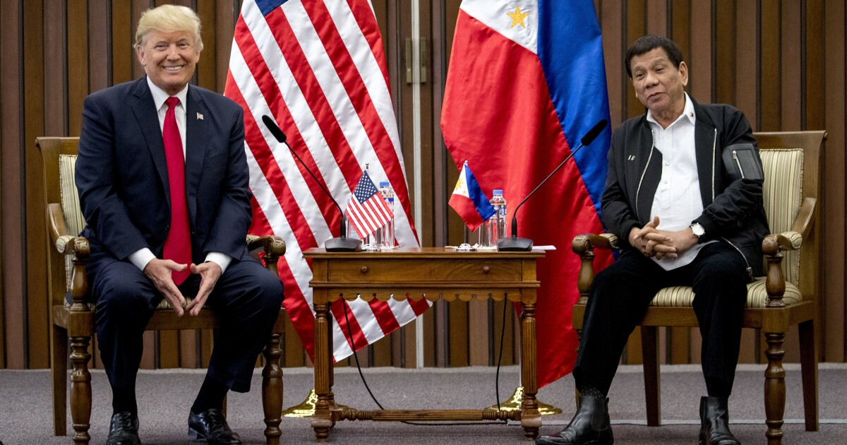 The US and the Philippines need to be friends: 'America First' policy depends on it