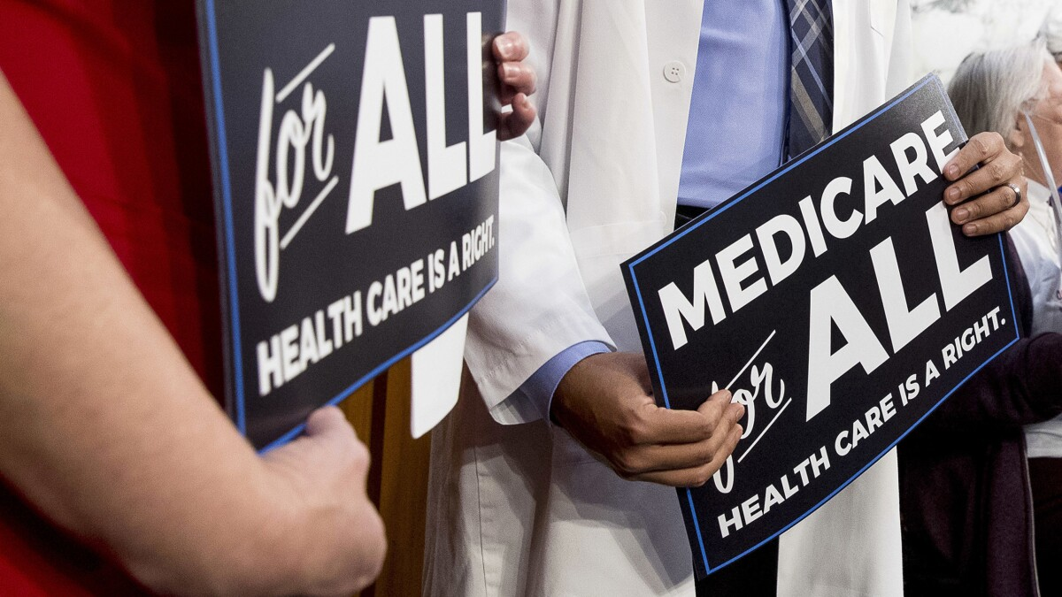 Democratic 'Medicare for all' push stands to rescue Trump on healthcare