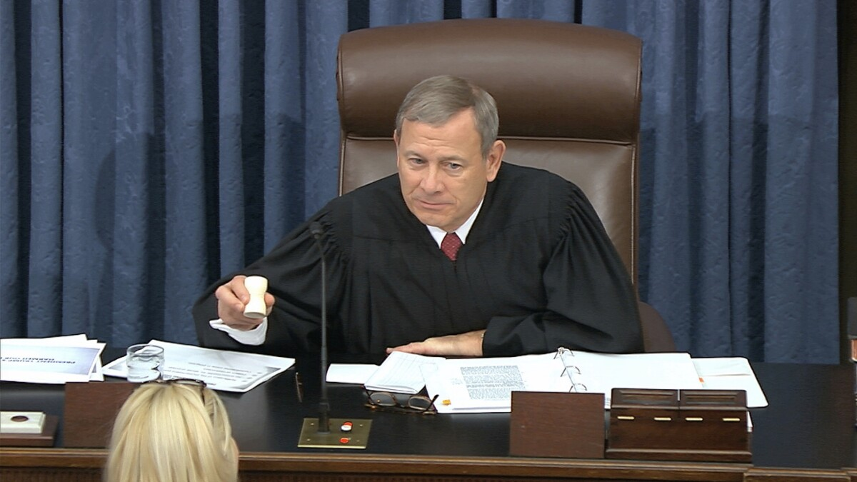 The chief justice doesn't rule the Senate
