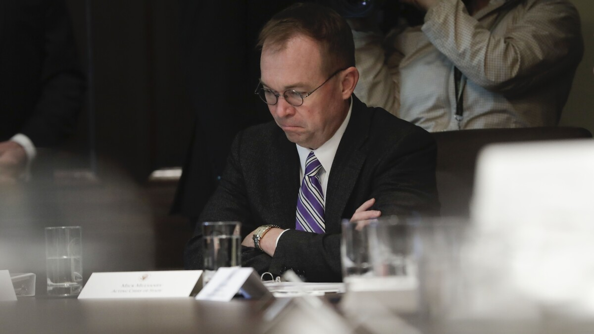 Mulvaney compares impeachment to a bitter divorce where your spouse goes on TV