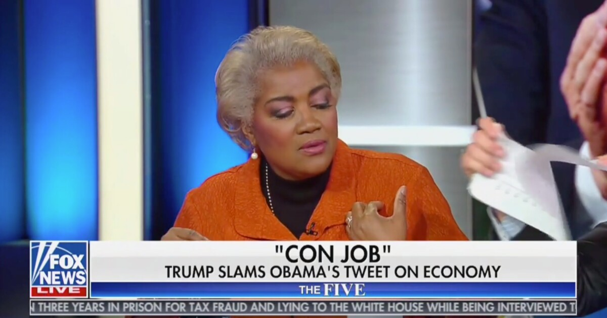 'I pulled a Pelosi': Jesse Watters tears Donna Brazile's papers to shreds live