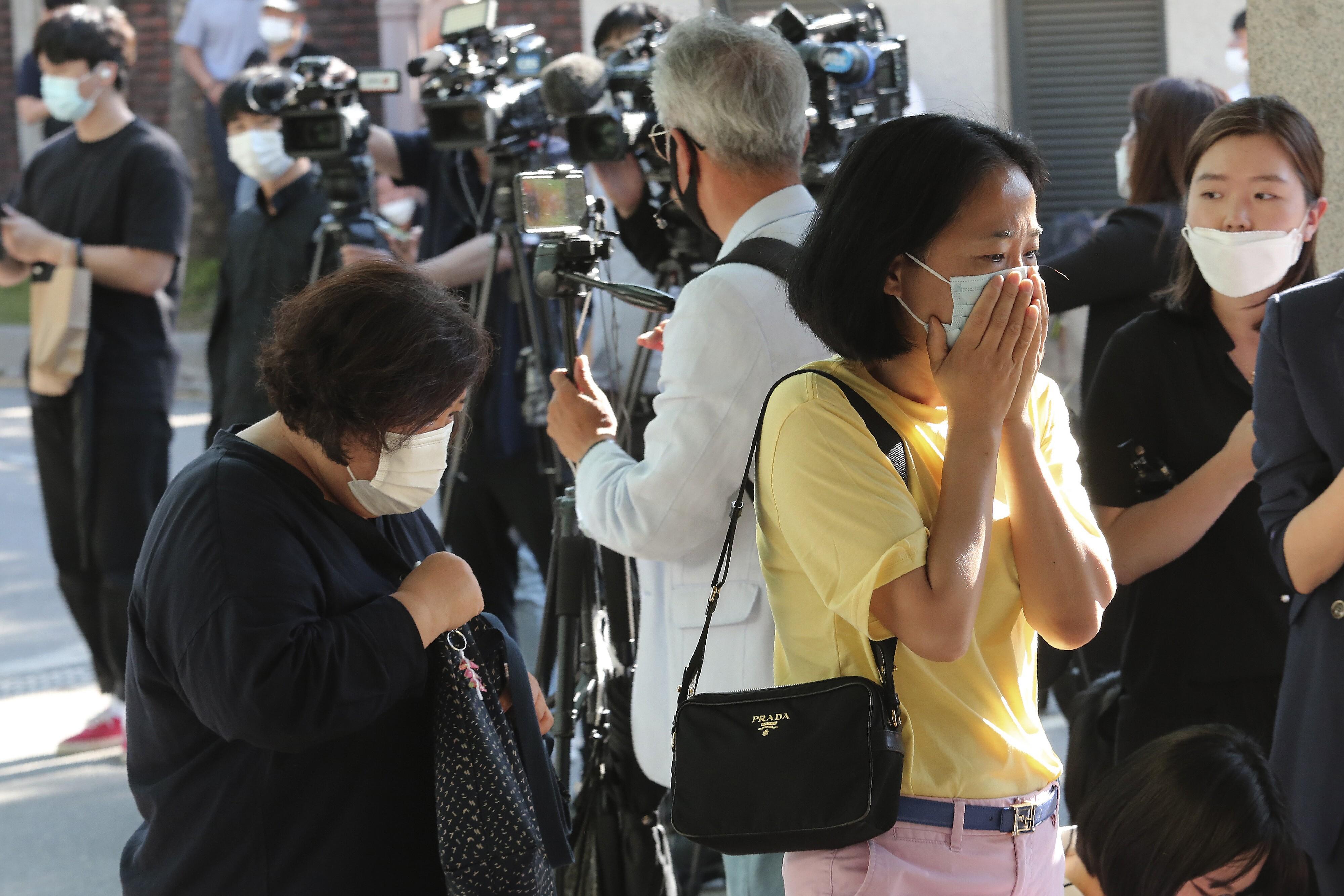Seoul Mayor Mourners