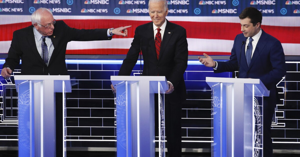 WATCH: Biden's closing statement at Nevada debate interrupted by immigrant rights protesters