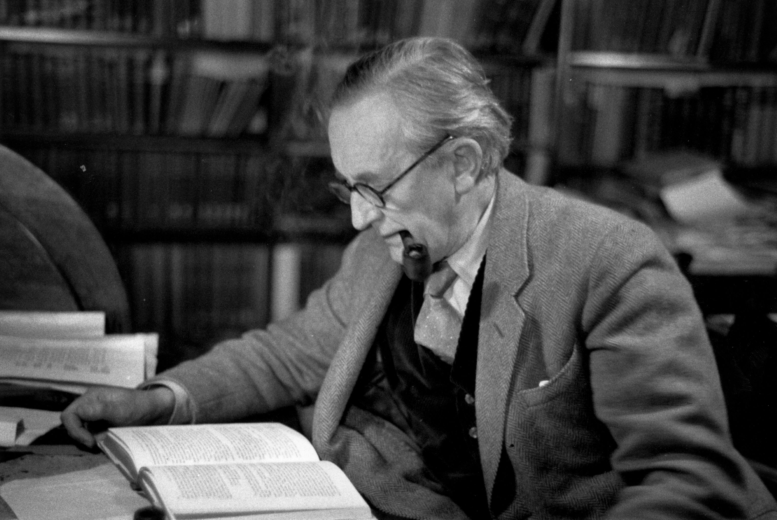 J R R Tolkien writing
