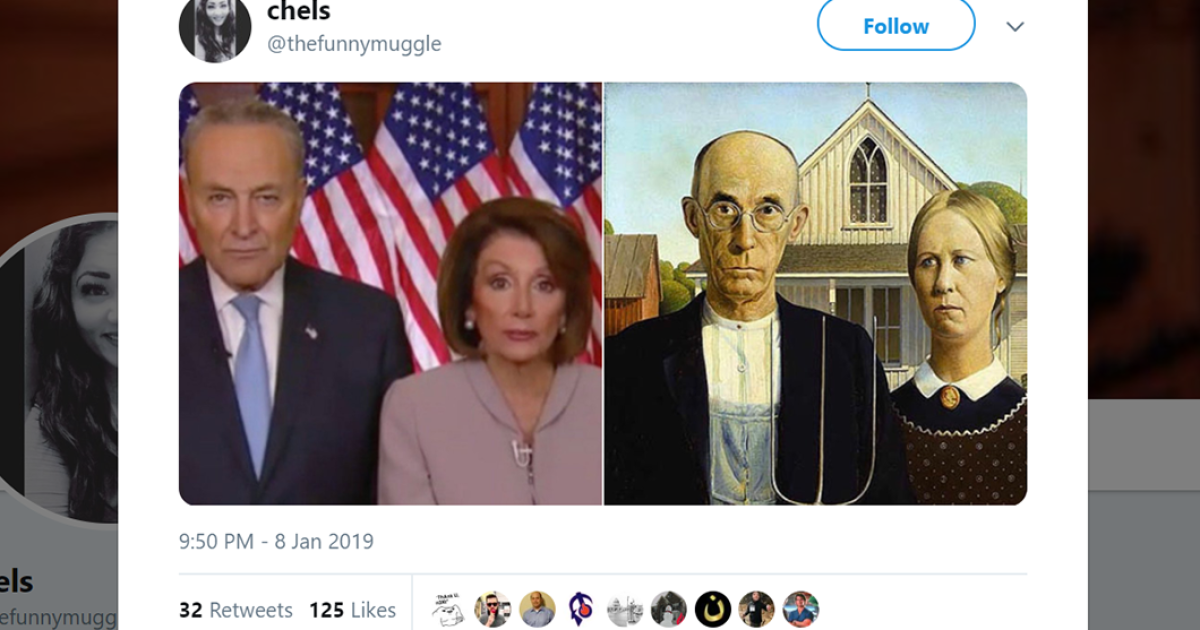 Twitter Mocks Creepy Twins Schumer And Pelosi For Their Trump Response