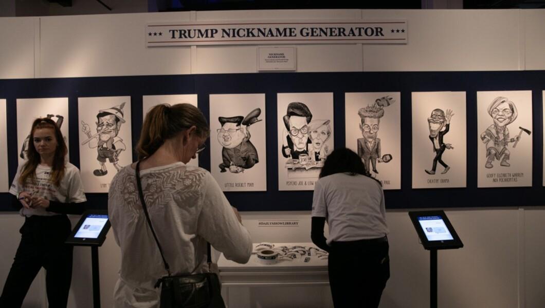 Presidential tweet library draws anti-Trump attendees