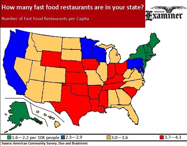 What Is Your State S Fast Food Ranking