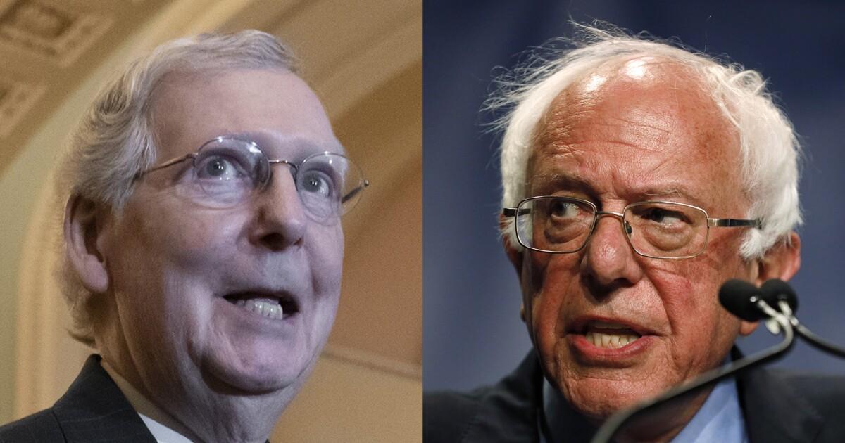Bernie Sanders warns Mitch McConnell: 'You've got 18 months left'