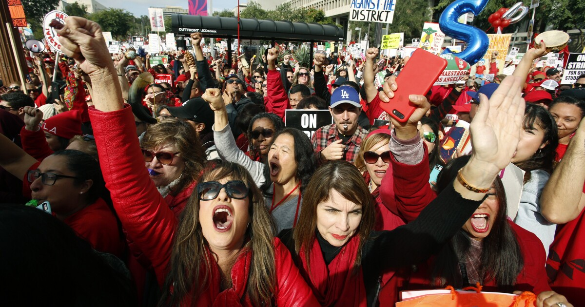 Suspend negotiations with the Los Angeles teachers union