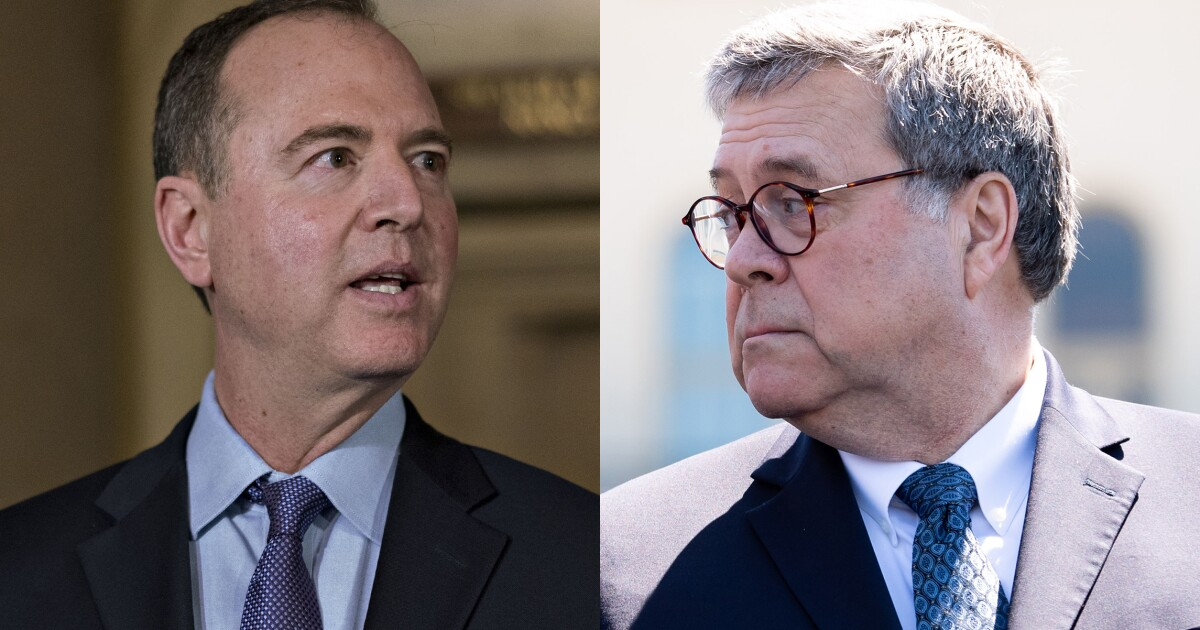Schiff: AG Barr is the 'second-most dangerous man in the country'