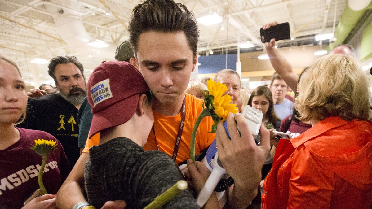 Parkland survivor David Hogg says he has been the target of seven assassination attempts