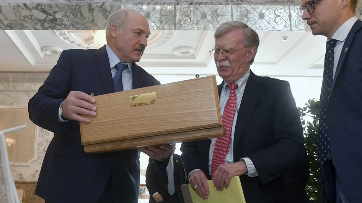 John Bolton's Belarus trip stirs threat to Putin
