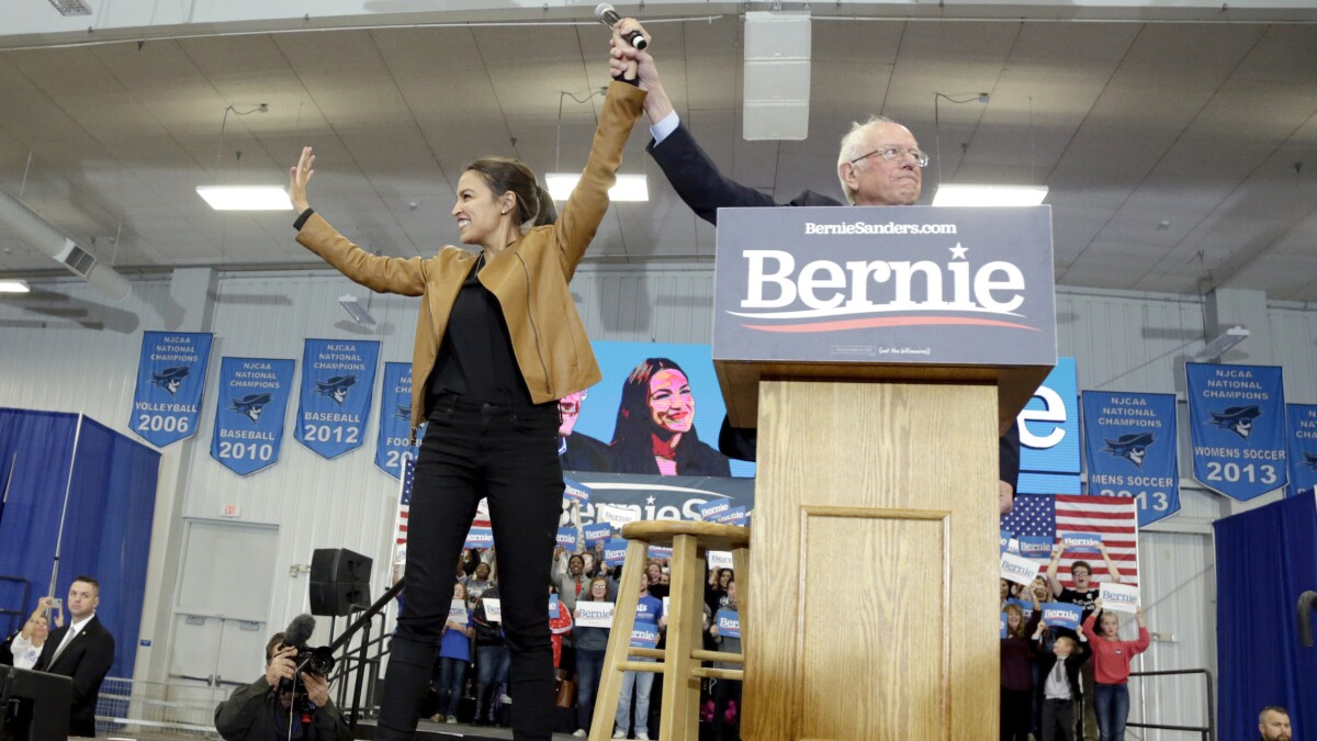 'No question': Bernie Sanders says Ocasio-Cortez would play a role in his White House