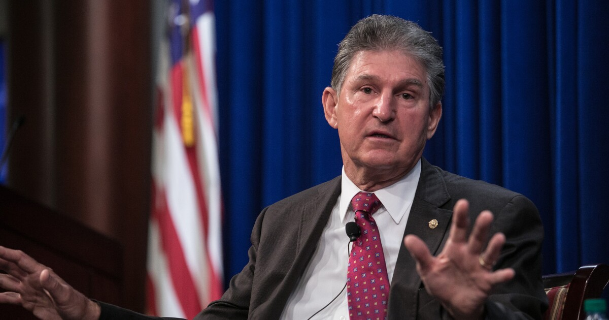 Manchin slammed for voting yes on virus relief package after promising he'd only support bipartisan bill