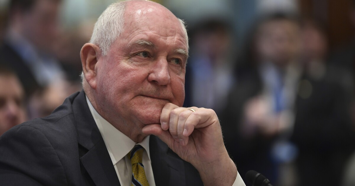 Trump agriculture chief Sonny Perdue walks back apparent endorsement of carbon pricing