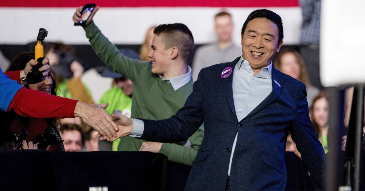 Andrew Yang earns rave reviews for first day as CNN commentator