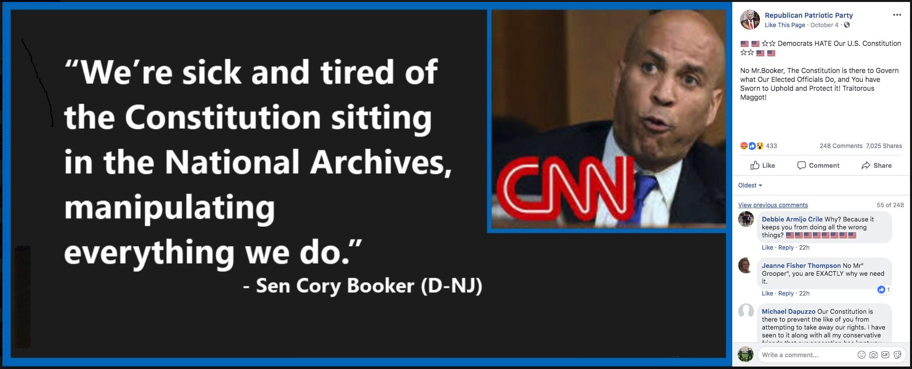 Fact Check: Did Senator Cory Booker Say He Was \'Sick and ...