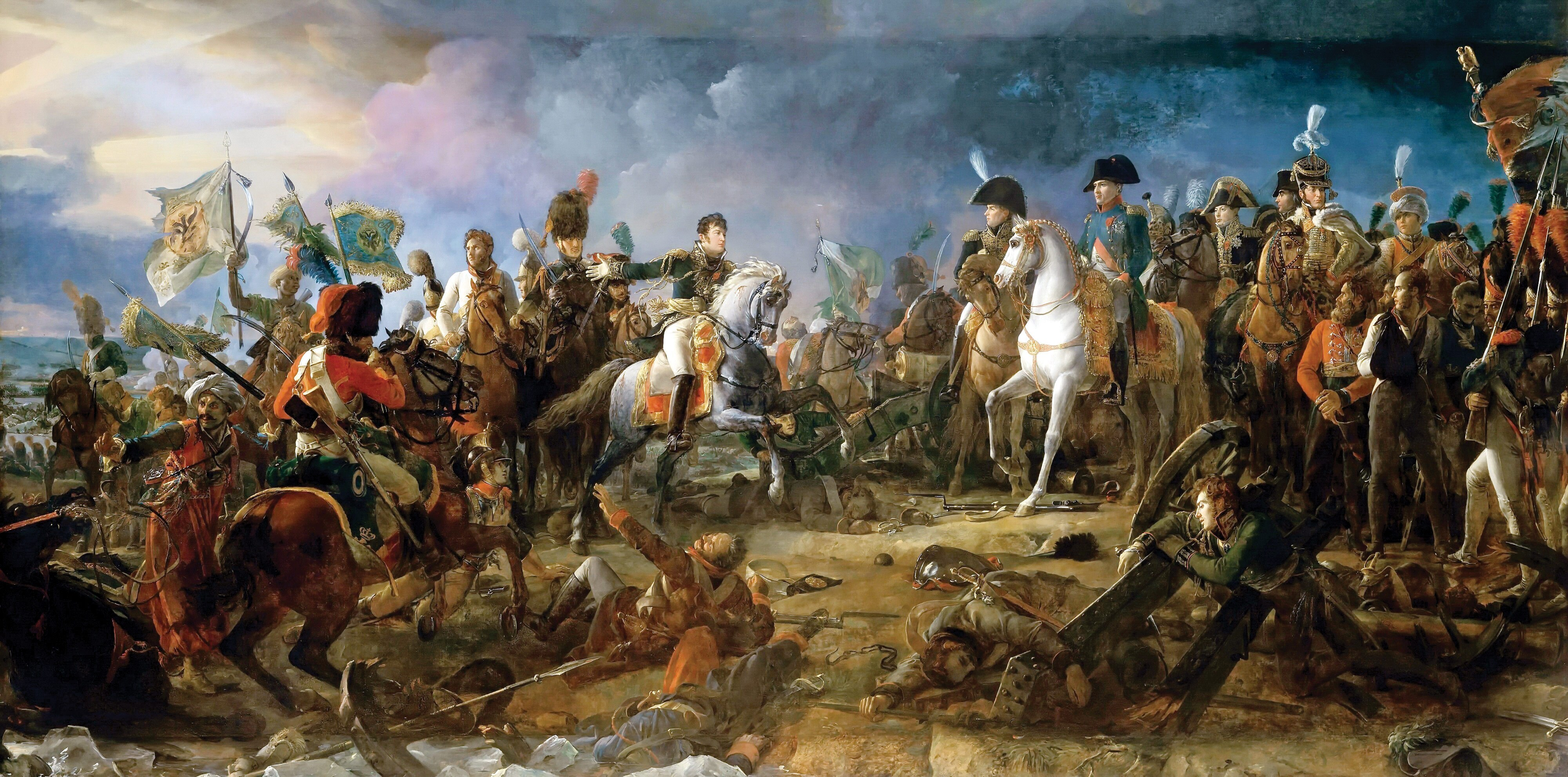 François Gérard's 1810 painting of Napoleon at the Battle of Austerlitz.