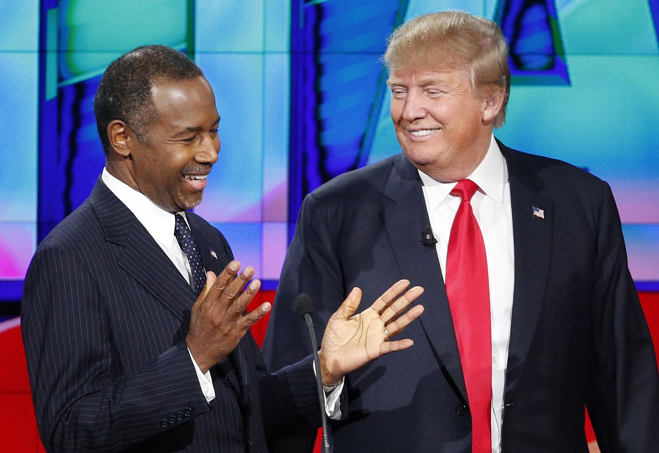 Ben Carson, Donald Trump