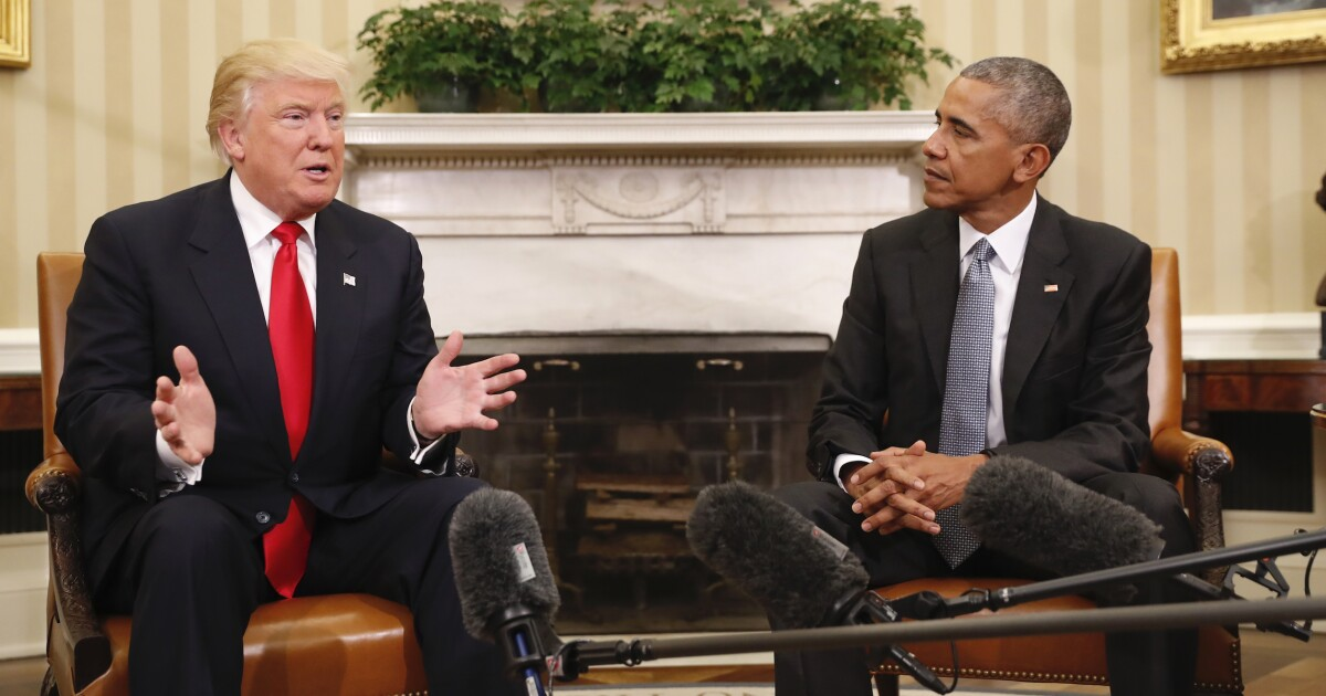 Obama takes a subtle Presidents Day jab at Trump's best argument for 2020