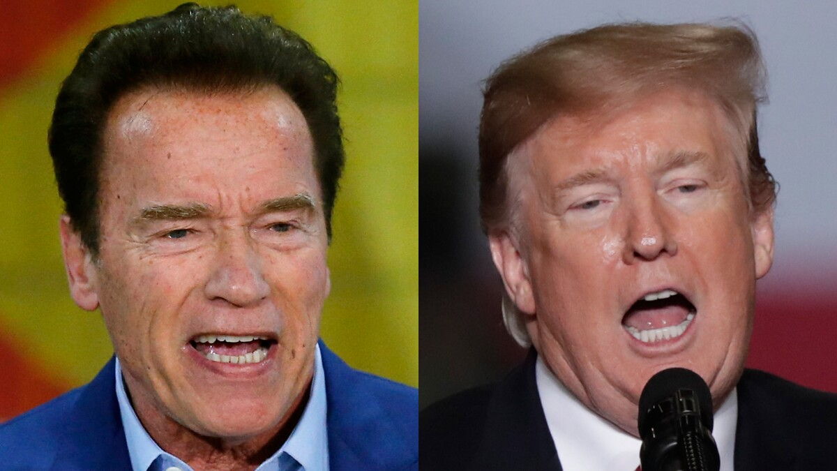 'He wants to be me': Schwarzenegger responds to attacks from Trump