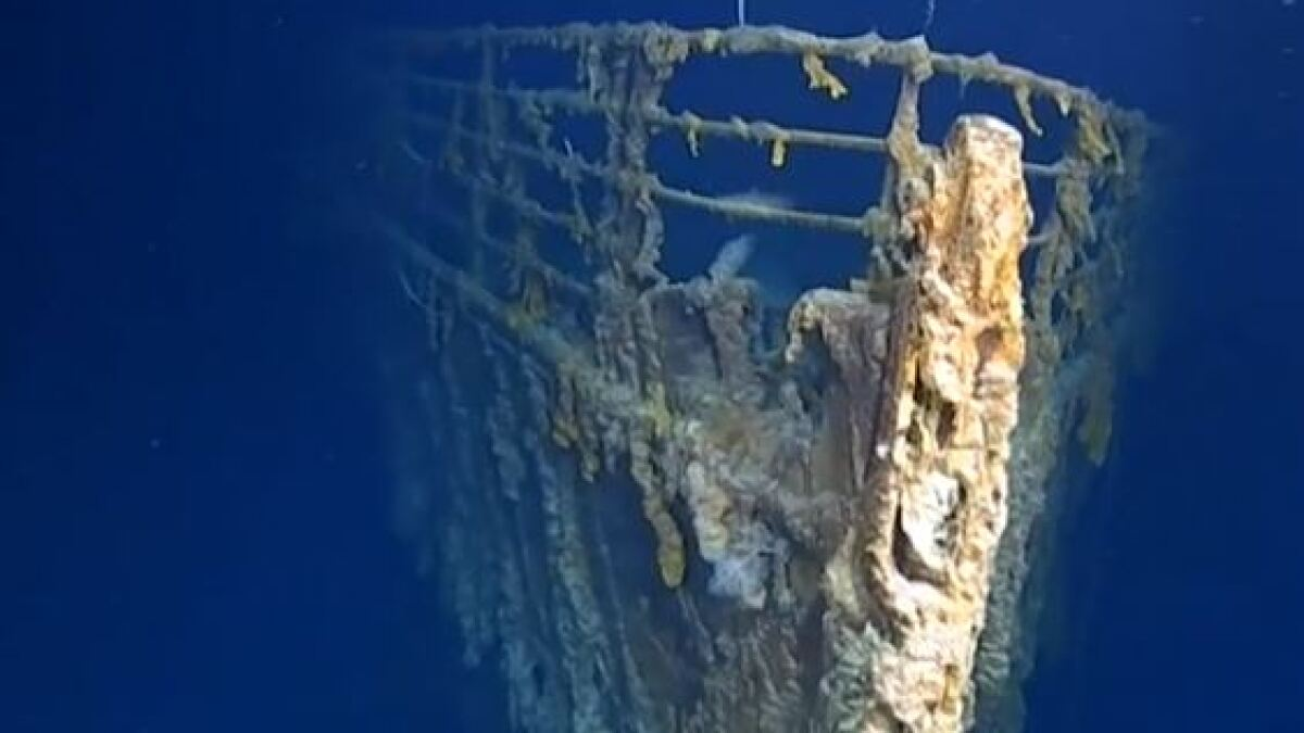 'Titanic<i> </i>is returning to nature': First submarine dive in years reveals rapidly deteriorating shipwreck