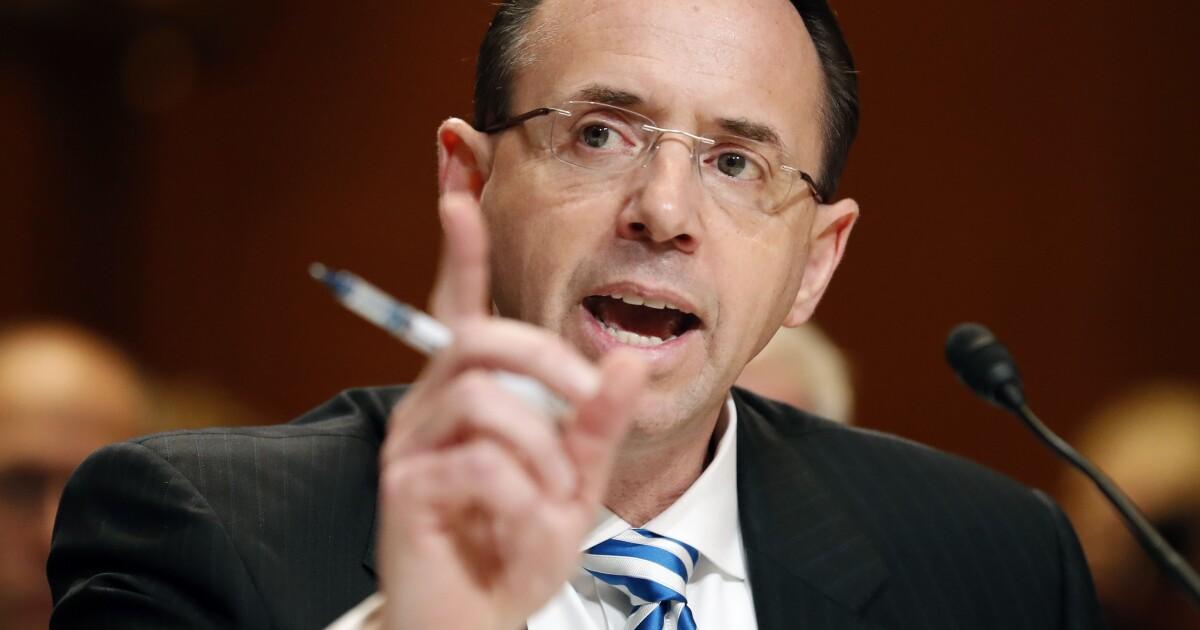 Rod Rosenstein to testify as first witness in...