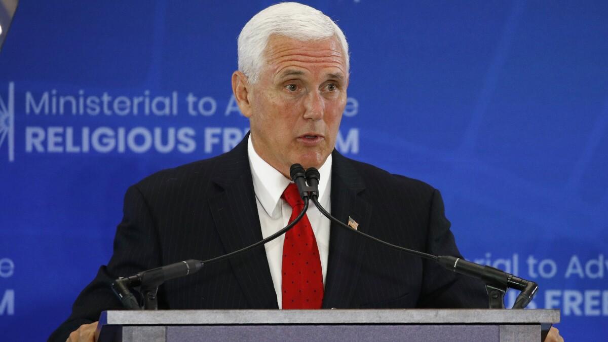 Mike Pence demands Saudi Arabia release blogger in rare rebuke