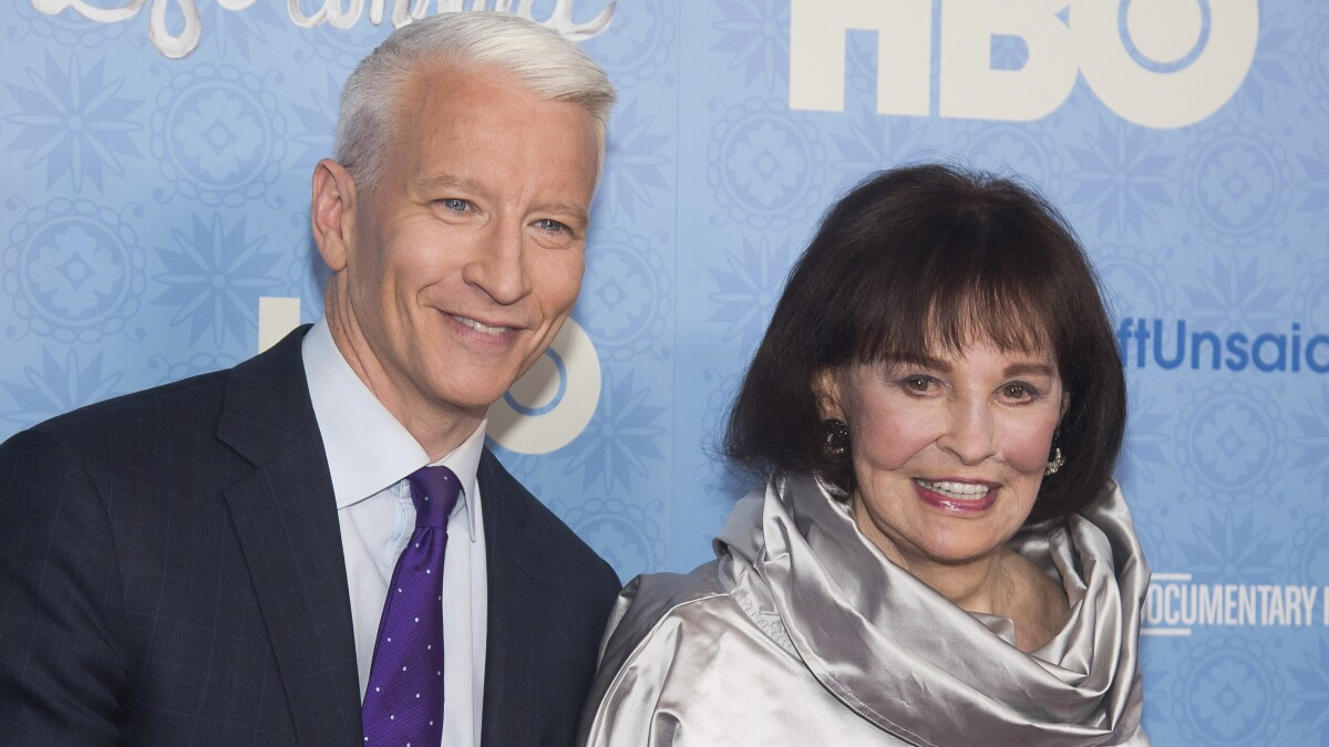 Anderson Cooper will inherit less than $1.5 million from his late mother Gloria Vanderbilt