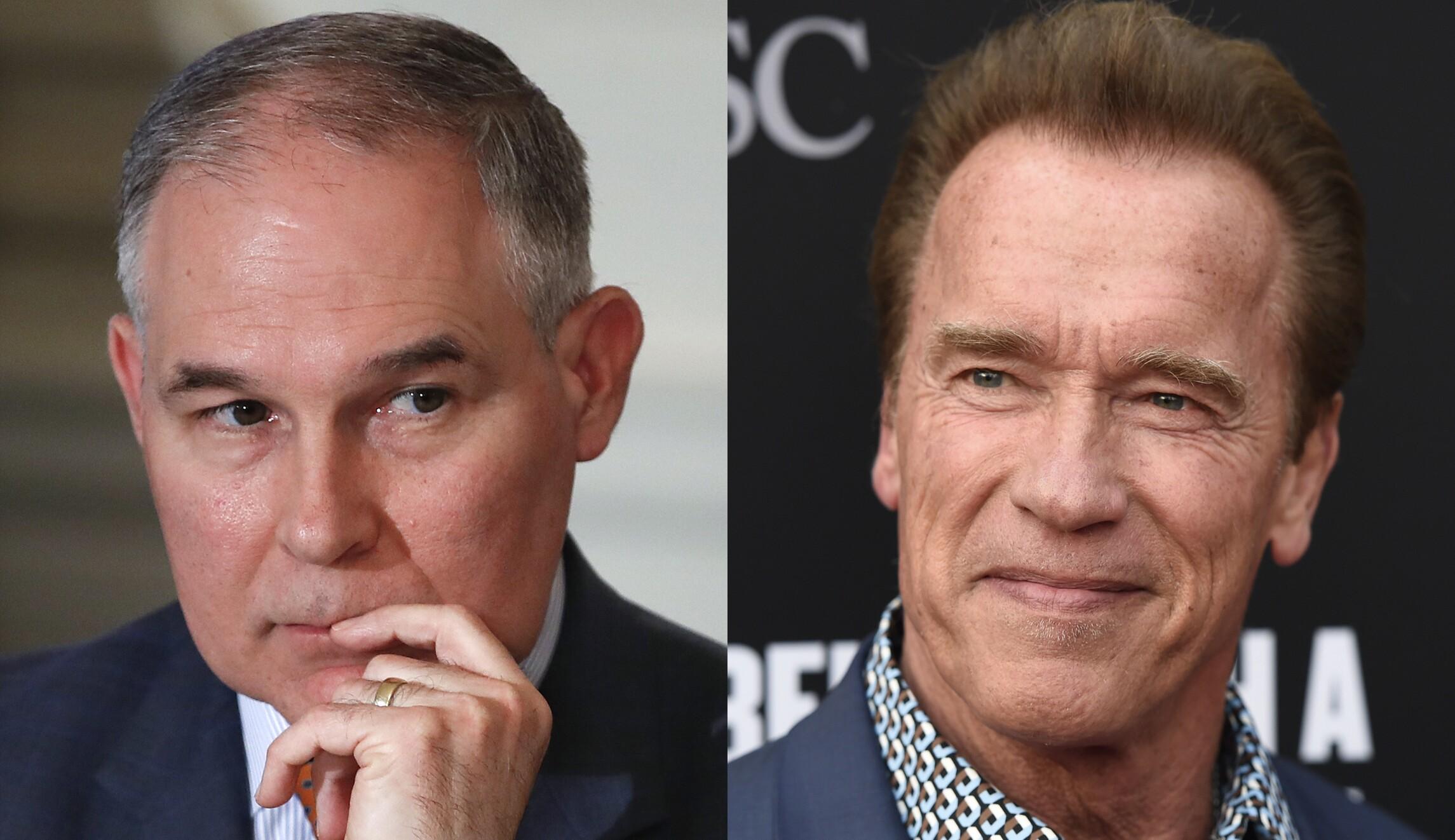 Arnold Schwarzenegger Scott Pruitt Is The Worst EPA Head In History