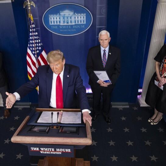 Donald Trump, Anthony Fauci, Mike Pence, Deborah Birx