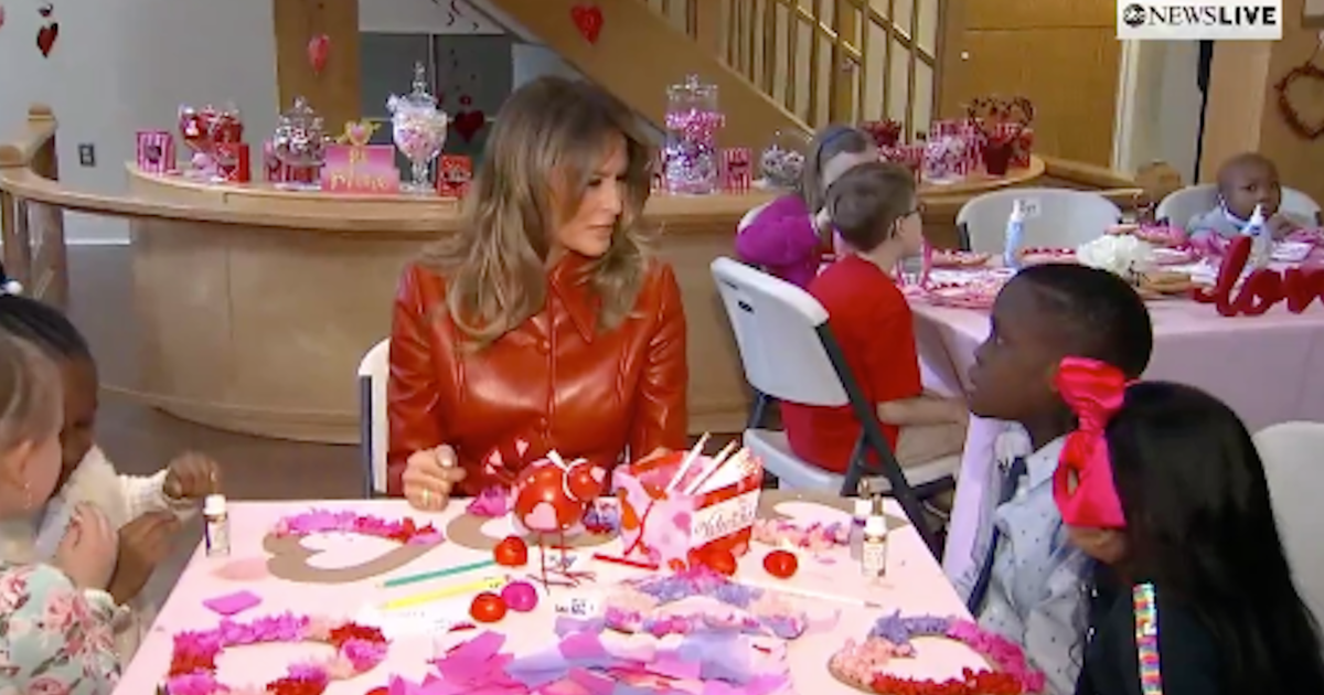 Melania Trump reunites with child who gave her...