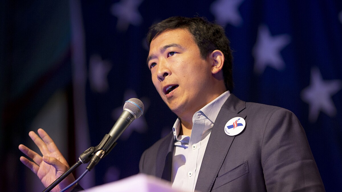 Election authorities aren't in a position to stop Yang's free money giveaway even if it is illegal