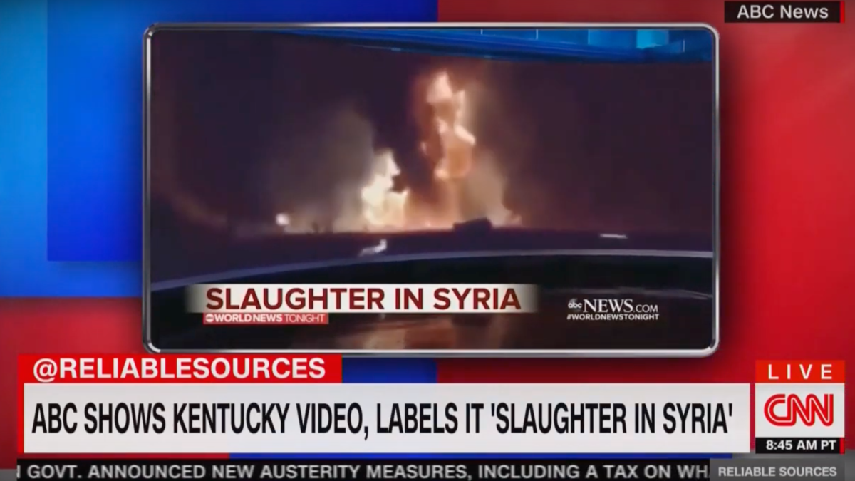 'Most egregious media error of the week': Stelter slams ABC for showing fake Syria video
